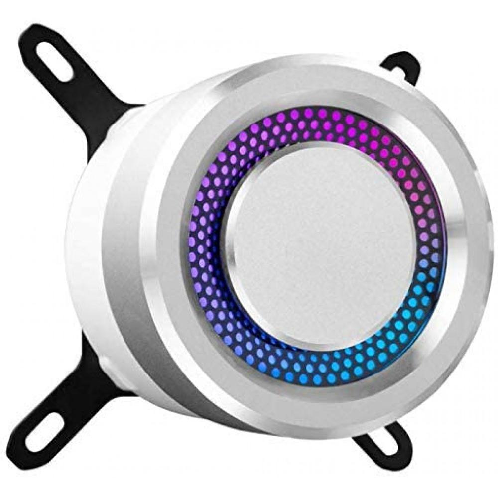Water Cooler Lian Li Galahad, 2x 120mm, Branco com Mangueiras de Nylon e Iluminação RGB - GA-240A WHITE