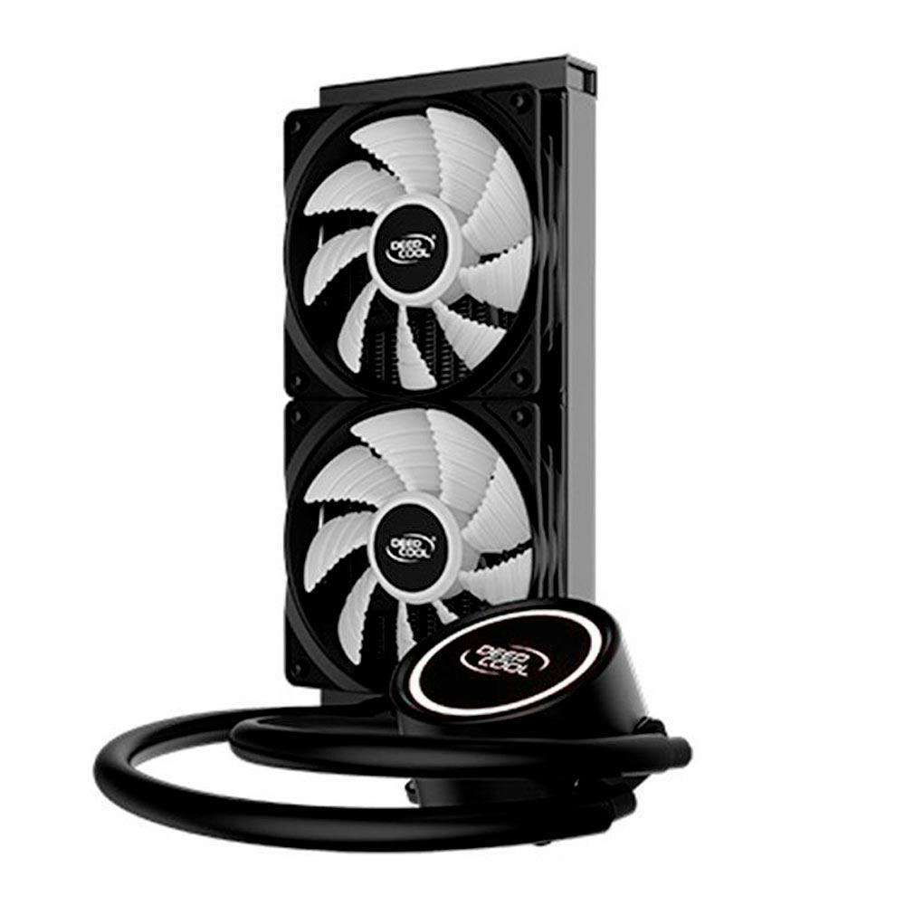 Water Cooler DeepCool Gammaxx L240T, White, 240mm, LED, Branco - DP-H12RF-GL240TW