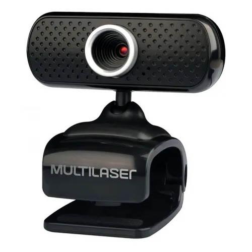 Webcam Multilaser 480p C/ Microfone, USB, Plug And Play, Preto - WC051