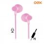 Fone de Ouvido c/Microfone FN301 OEX Sweet Rosa Pastel