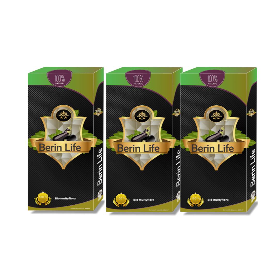 Kit 3 Unidades - Berin Life 500ml - Suco concentrado de berinjela