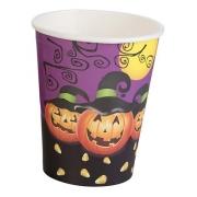Copo Descartável Halloween Abóbora - Artigo para Festas - Dia das Bruxas - Festa do Terror - Silver Festas é na Pirulito