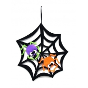 Enfeite Teia De Aranha GRANDE De Parede Halloween - Decoração para Festas - Dia das Bruxas - Festa do Terror - Silver Festas é na Pirulito