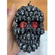 Vela Enfeite Caveira  Halloween - Grande 10cm  - Dia das Bruxas