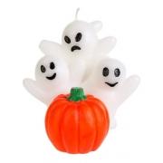 Vela ENFEITE Halloween Fantasmas e Abóbora - Dia das Bruxas - Silver Festas