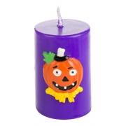 Vela Halloween Abóbora Roxa - Decoração para Festas - Dia das Bruxas - Silver Festas
