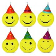 Vela SMILES com 6 unidades - Vela de Aniversário - Silver Festas é na Pirulito