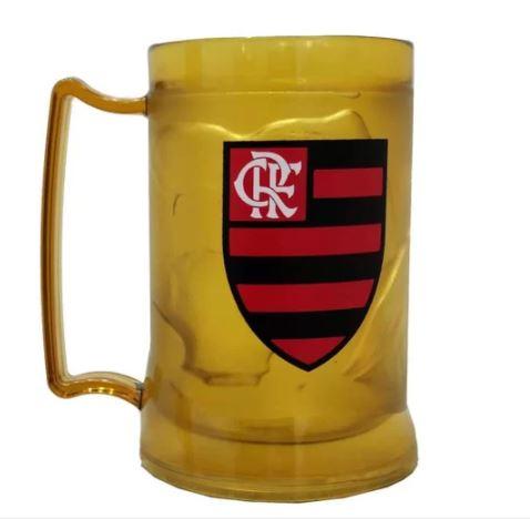 Caneca com Gel Térmico Flamengo Dourado 400ml