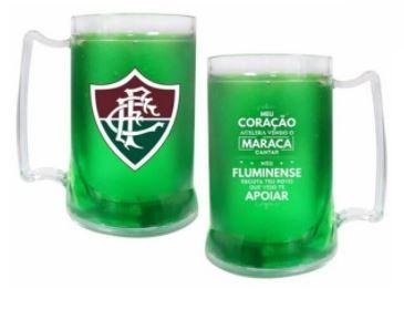 Caneca com Gel Térmico Fluminense Escudo 400ml