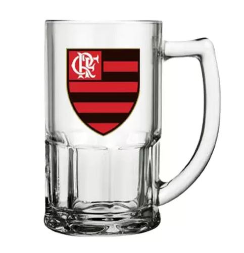 Caneca de Vidro 340ml do Flamengo