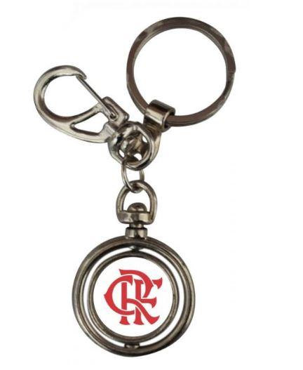 Chaveiro Redondo Giratório Flamengo