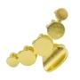 Piranha metal círculos dourado