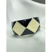 Bracelete | Classic | Losangos | P&B