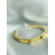 Bracelete | Dourado | Cravejado | Inspiração Cartier