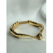Bracelete   Dourado   Serpente