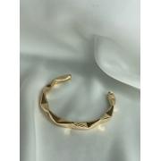 Bracelete   Dourado   Tubo Pinçado
