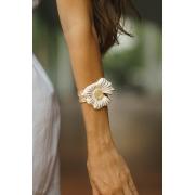 Bracelete | Esmaltado | Amor-Perfeito Branco