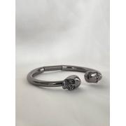 Bracelete | Ródio Negro | Caveira