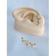 Brinco | Ear Cuff| Dourado | Constelação | Cristal