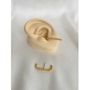 Brinco | Ear Hook | Dourado | Bolinha