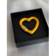 Pingente   Esmaltado   Coração   Amarelo
