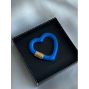 Pingente   Esmaltado   Coração   Azul