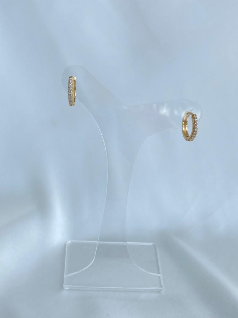 Argola   Dourado   Cravejada   Pequena