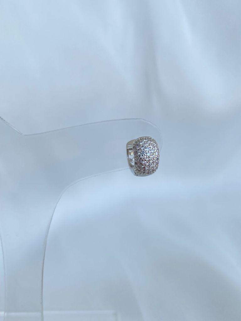 Argola | Ródio Branco | Cravejado Cristal