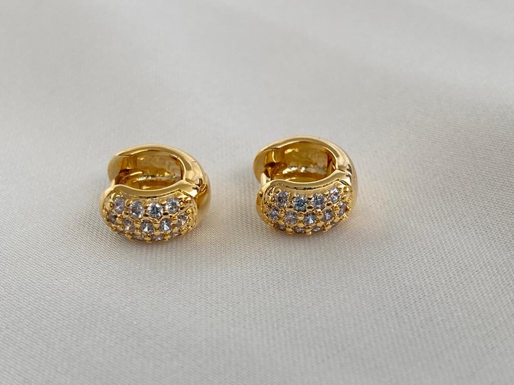 Argolinha   Dourado   Cravejado Cristal
