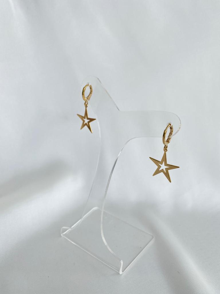 Argolinha   Dourado   Pingente Estrela