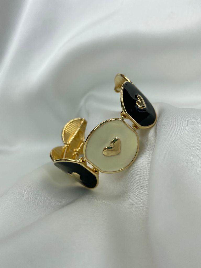 Bracelete | Classic | Coração | P&B
