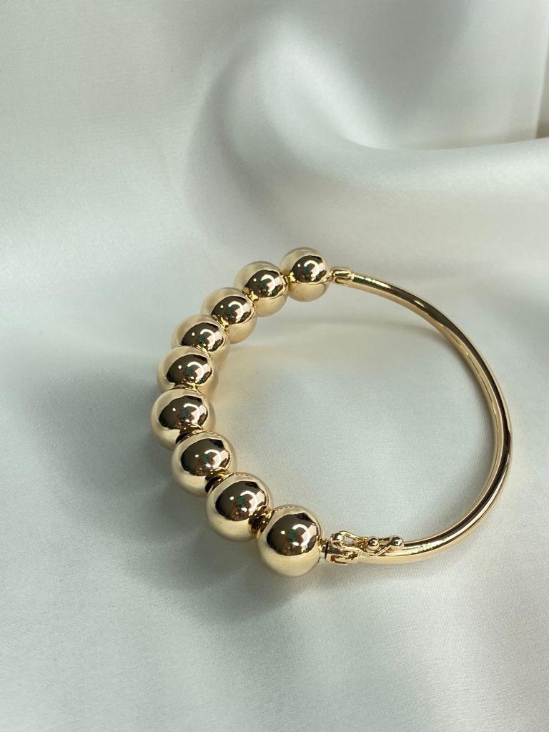 Bracelete | Dourado | Esferas