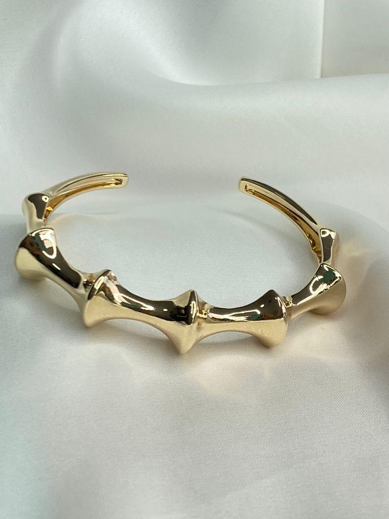 Bracelete   Dourado   Esqueleto