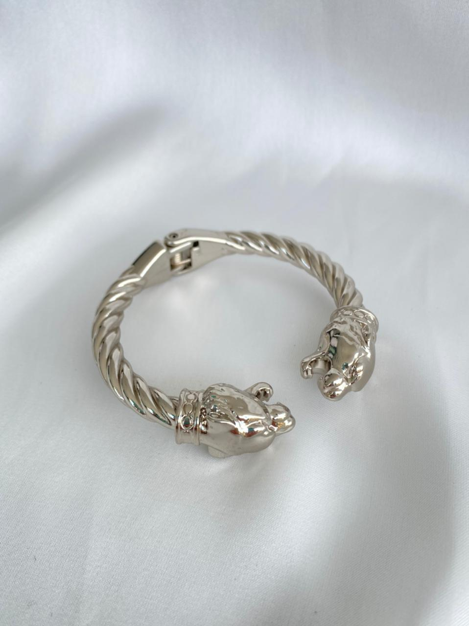 Bracelete   Masculino   Pantera   Ródio Branco
