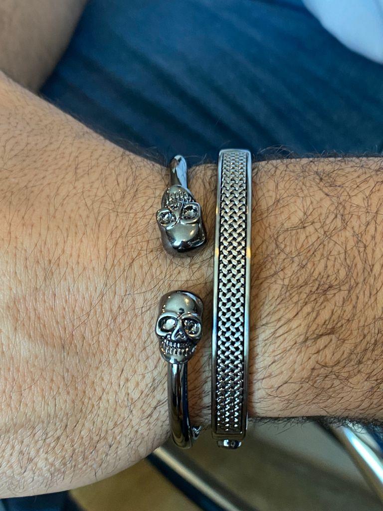 Bracelete | Ródio Negro | Trama & Pai Nosso