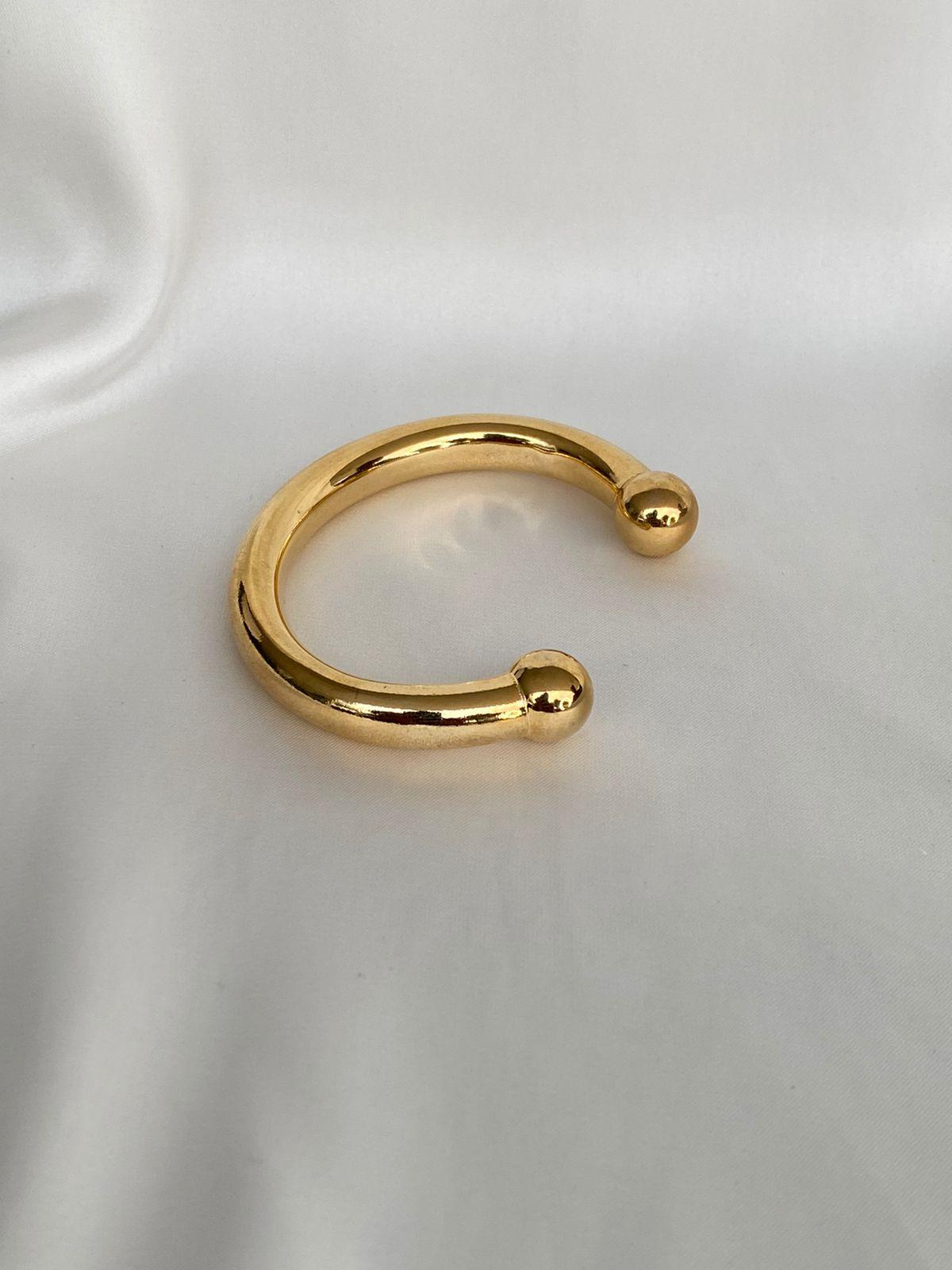 Bracelete   Tubo   Dourado