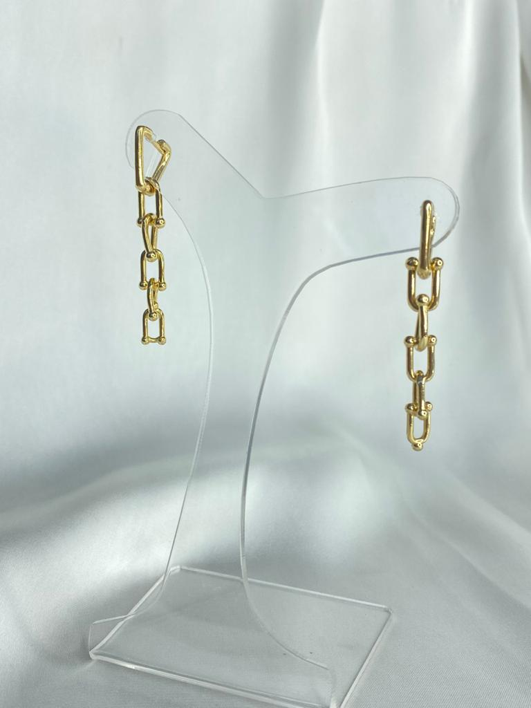 Brinco   Correntaria   Dourado   Inspiração Tiffany & Co