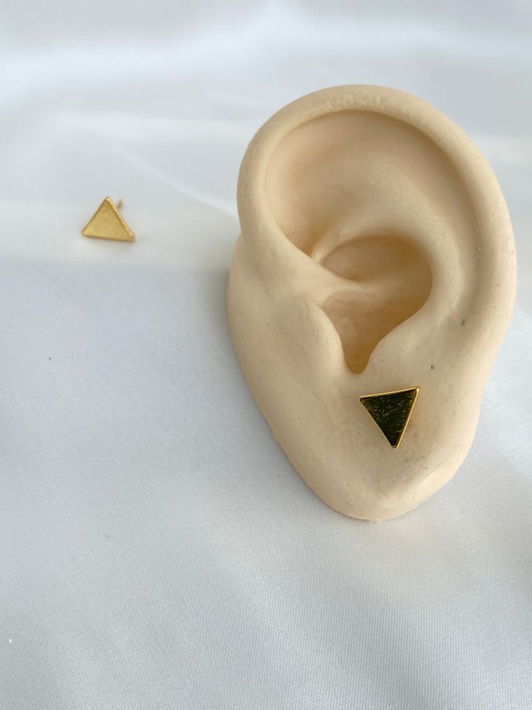 Brinco | Dourado | Mini Triângulo