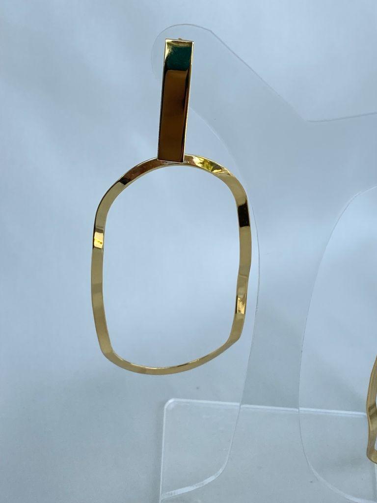Brinco | Dourado | Pingente Aro Oval