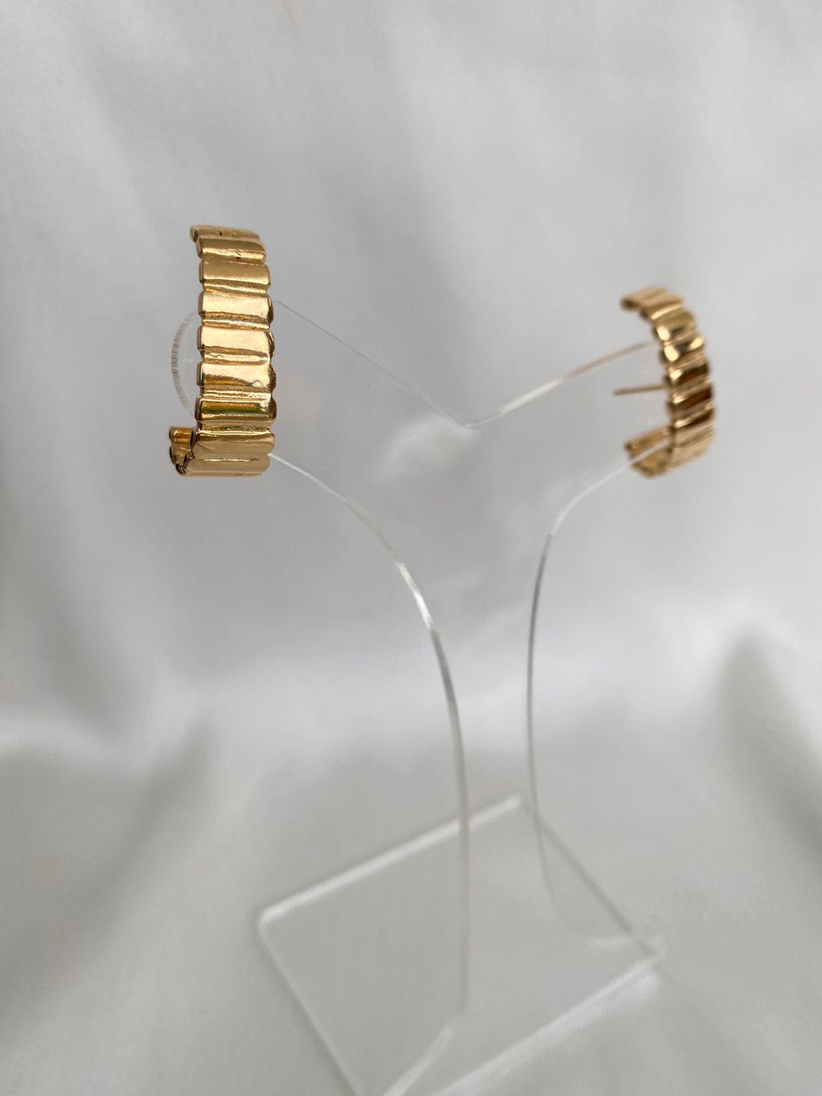 Brinco   Ear Hook   Dourado   Chanfrado