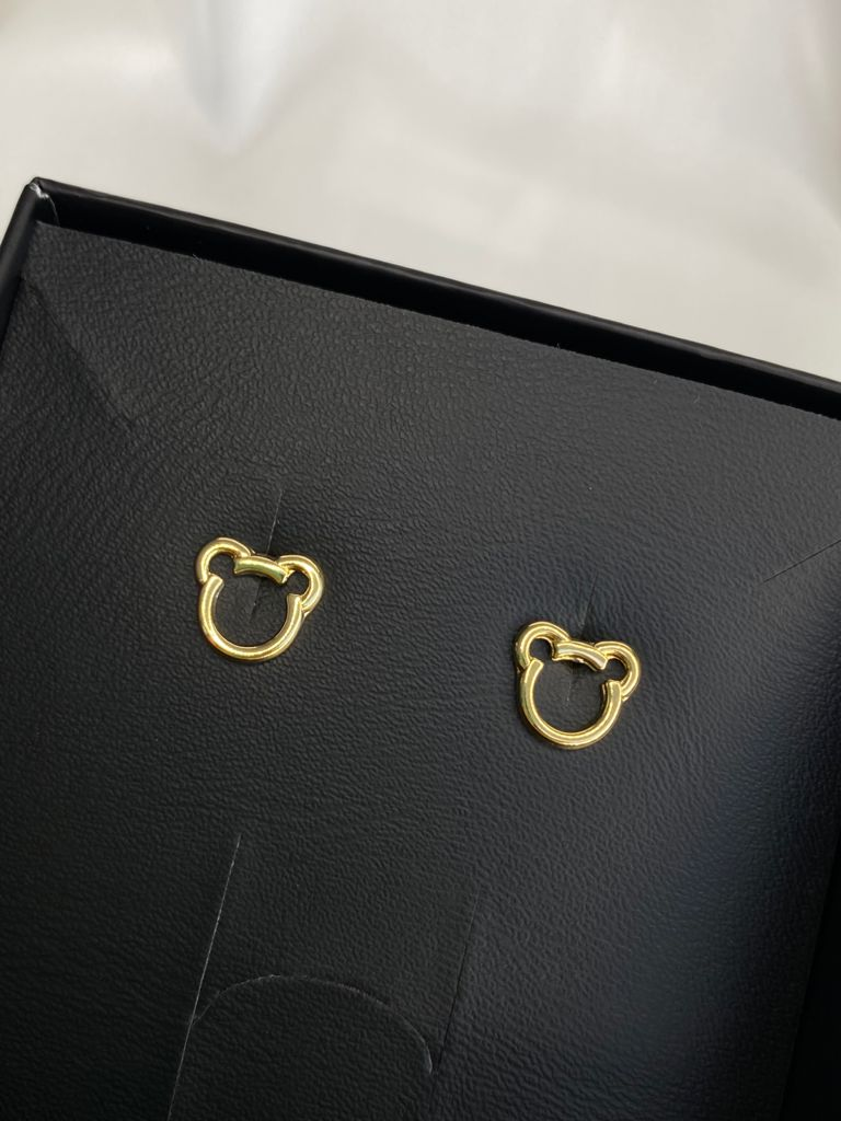 Brinco   Infantil   Dourado   Mickey