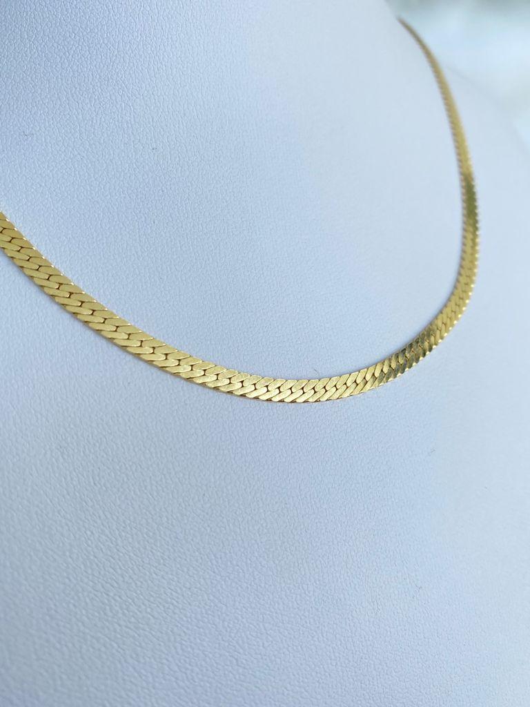 Colar   Chocker Diamantada   Dourado
