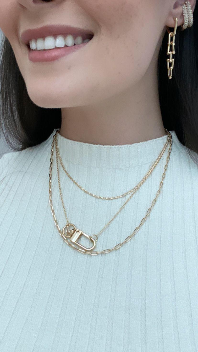 Colar   Choker   Dourado   Corrente Cartier