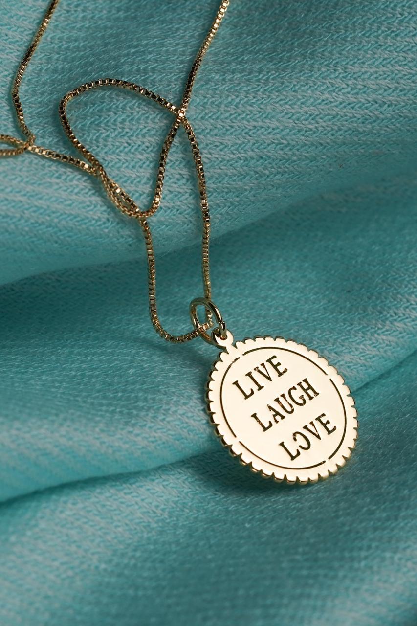 Colar | Dourado | Live Laugh Love