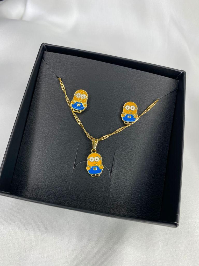 Conjuntinho   Infantil   Dourado   Minions