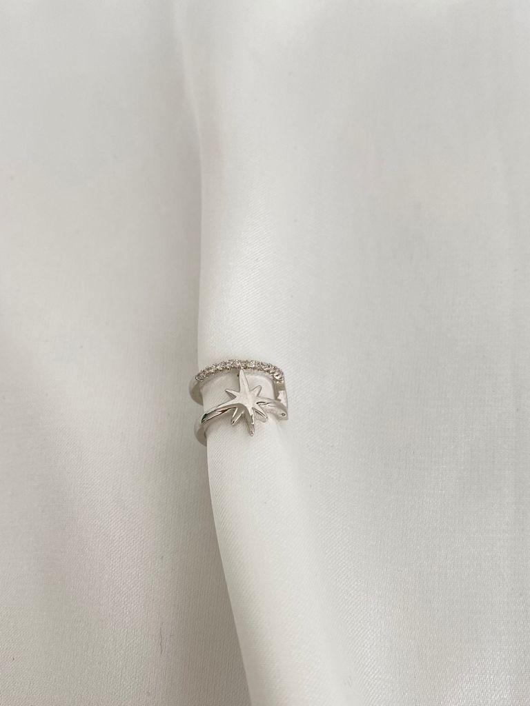 Piercing   Ródio Branco   Cravejado   Estrela Vitoriana