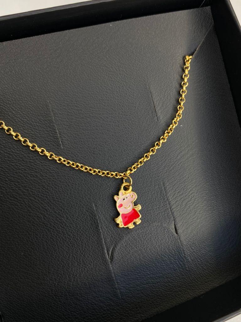 Pulseira | Infantil | Dourado | Peppa Pig