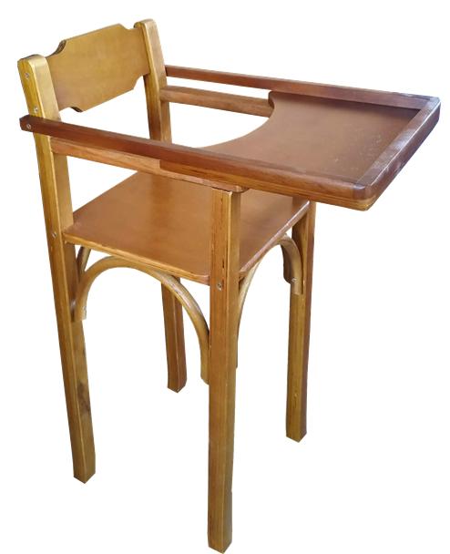 Cadeira de Bebe de Madeira Para Bar Restaurante Imbuia CBC