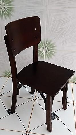 Cadeira de Madeira para bar cor imbuia Cod. CMA