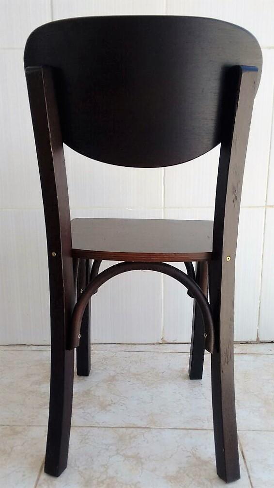 Cadeira de Madeira para Bar e Restaurante cor preta Cod. CMA